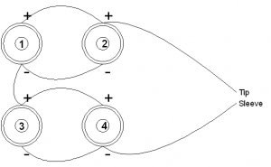 Four Speakers in Series/Parallel